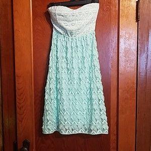 Strapless Vanity Aztec Dress